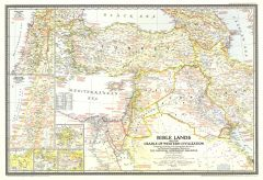 Bible Lands, and the Cradle of Western Civilization  -  Published 1946 Map