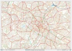 Birmingham City Centre Postcode Sectors Wall Map (C4) Map