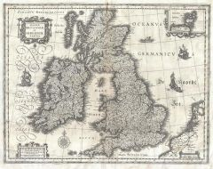 Blaeu Map of the British Isles (1631) Map