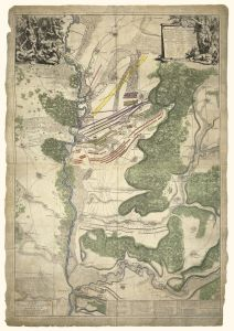 Blenheim Battle map 1704 Map