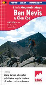 Harvey British Mountain Map - BMC - Ben Nevis & Glen Coe