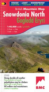 Harvey British Mountain Map - BMC - Snowdonia North