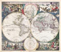 Bormeester Map of the World (1685) Map