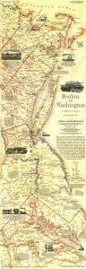Boston To Washington Circa 1830  -  Published 1830 Map