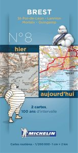 Michelin Historical Map - Brest (Pre WW1 & Today)