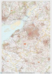 Bristol - BS - Postcode Wall Map