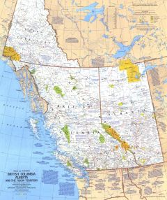 British Columbia, Alberta and the Yukon Territory  -  Published 1978 Map