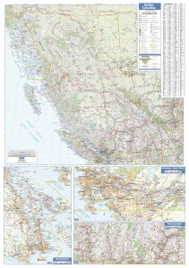 British Columbia Wall Map - Large Map