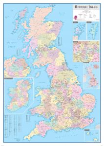 British Isles Administrative Map