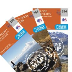 OS Explorer Active Map Set - Ben Nevis