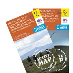 OS Explorer Active Map Set - The Brecon Beacons