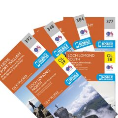 OS Explorer Map Set - West Highland Way