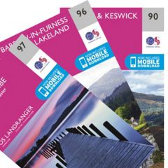 OS Landranger Map Set - Lake District