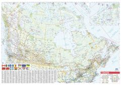 Canada Wall Map with Flags - English and French - Large Map