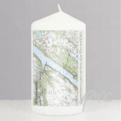 Cassini Personalised Map Candles