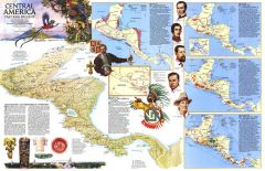 Central America Past and Present  -  Published 1986 Map