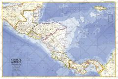 Central America  -  Published 1973 Map