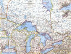 Central Canada - Published 1963 Map