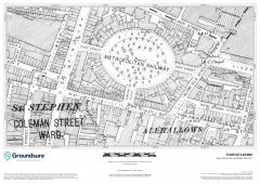 Central London 1890-1900 1:1,250 Map