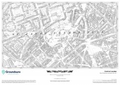 Central London 1890-1900 Map