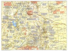 Central Rockies   Side 1 - Published 1984 Map