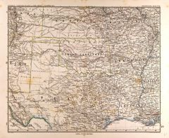 Central United States Map in German (1872) Map