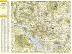 Central Washington, District of Columbia  -  Published 1948 Map