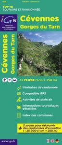 IGN Top 75 - Cevennes / Gorges du Tarn