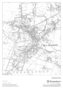 Chelmsford 1874 Map