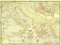 Classical Lands of the Mediterranean  -  Published 1940 Map