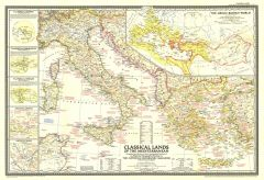Classical Lands of the Mediterranean  -  Published 1949 Map