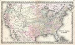 Colton Map of the United States (1855) Map