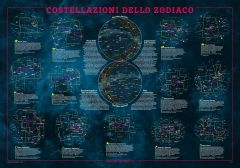 Constellation of the Zodiac Wall Map - Italian Map