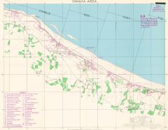 D-Day - Omaha Beach - Normandy - Wall Map