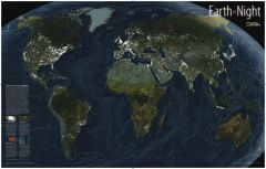 Earth at Night Map