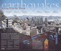Earthquakes, Living With the Threat - Published 2006 Map