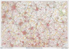 East Midlands Postcode Sector Wall Map (S7) Map