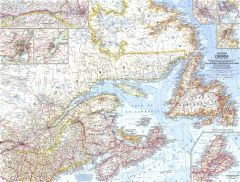 Eastern Canada  -  Published 1967 Map