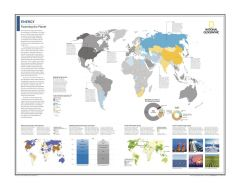 Energy: Powering the Planet - Atlas of the World, 10th Edition Map