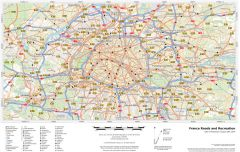 France Roads and Recreation Map