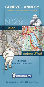 Michelin Historical Map - Geneve/Annecy (Pre WW1 & Today)