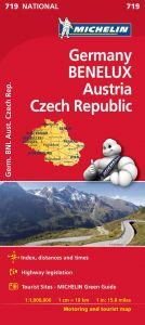 Michelin National Map - 719-Germany, Austria, Benelux & Czech Republic