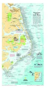 Ghost Fleet of the Outer Banks 1970 Map - Published 2008 Map