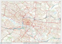 Glasgow City Centre Postcode Sectors Wall Map (C5) Map