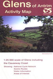OS Northern Ireland Activity Map - Glens Of Antrim