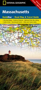 National Geographic - State Guide Map - Massachusetts