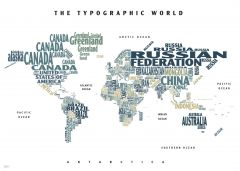 Graphic Map World - colours, white background Map