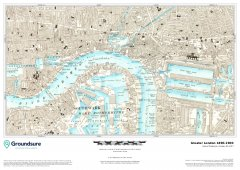 Greater London 1890-1900 Map