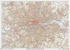 Greater London Postcode District Wall Map (D7) Map