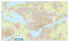 Greater Montreal Wall Map - Street Detail - Extra Large Map